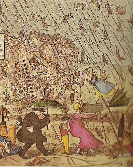 Idiom: Raining cats and dogs